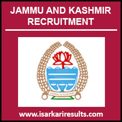 Jammu and Kashmir Jobs | Jammu and Kashmir Jobs 2018