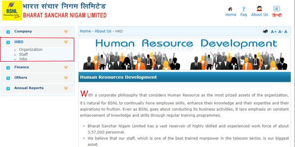 BSNL Recruitment 2018 Apply Online Step 2