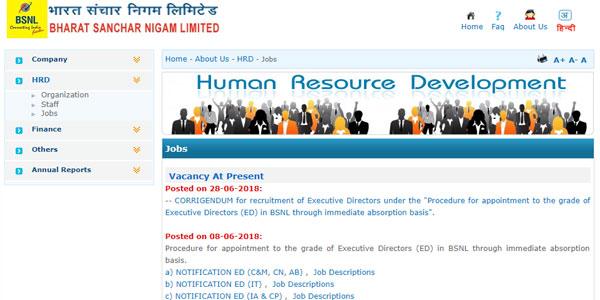 BSNL Recruitment 2018 Apply Online Step 3