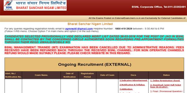 BSNL Recruitment 2018 Apply Online Step 4