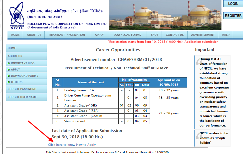NPCIL Recruitment 2018 Apply Online Step 8