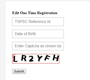 TSPSC One Time Registration Step 8