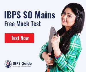 IBPS SO Mains